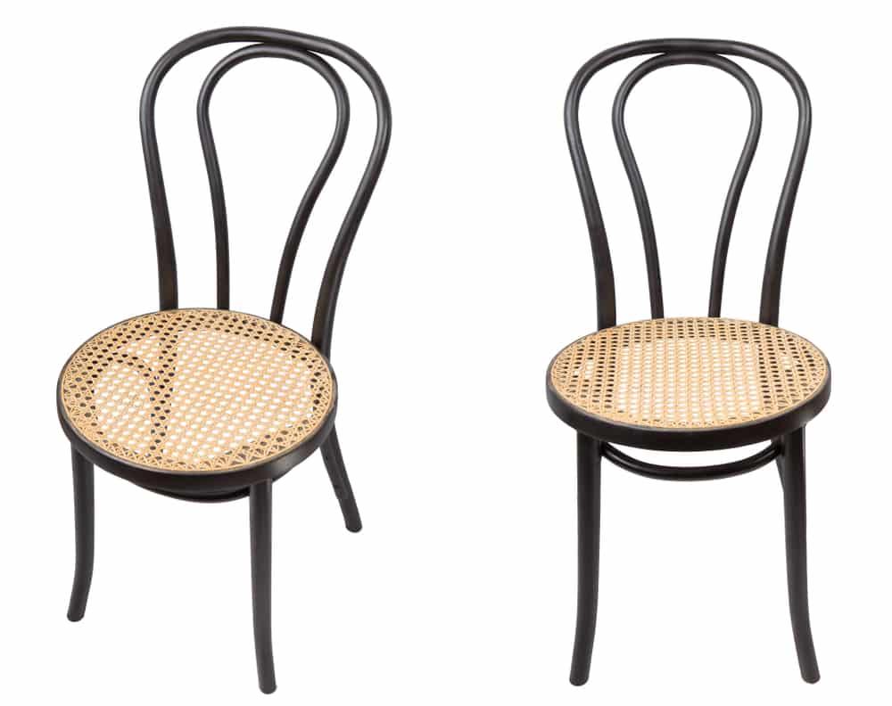 Quelles différences entre une chaise Baumann et une chaise Thonet?