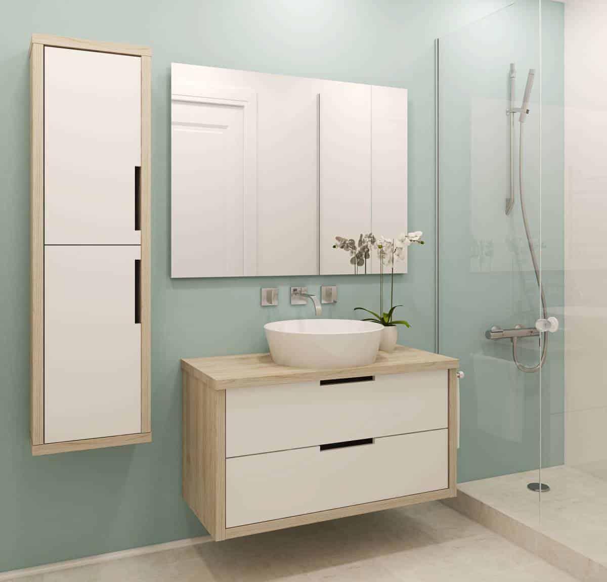 Salle de bain : un meuble sous vasque sur mesure